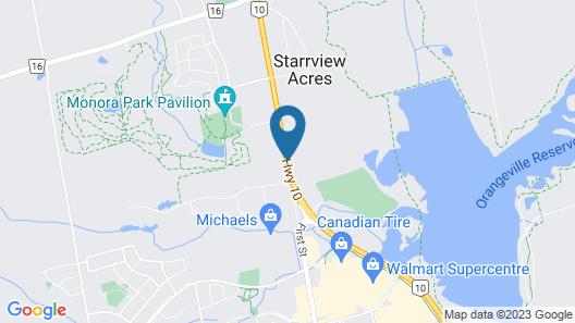 Orangeville Motel Map
