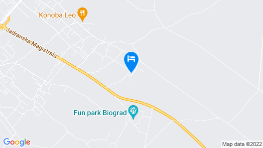 Cozy Moblie Home in Biograd na Moru With Pool Map
