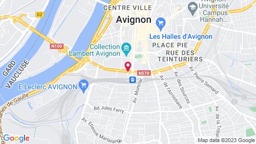 Avignon Grand Hotel Map