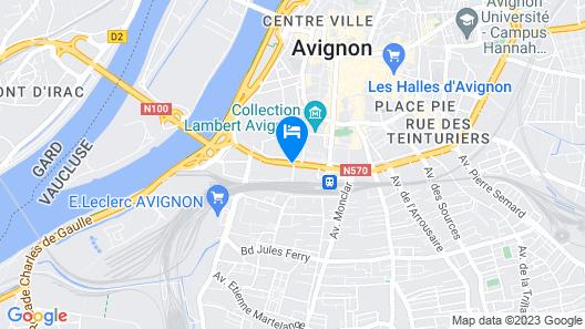 Novotel Avignon Centre Map