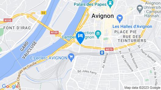 ibis Avignon Centre Pont de l'Europe Map