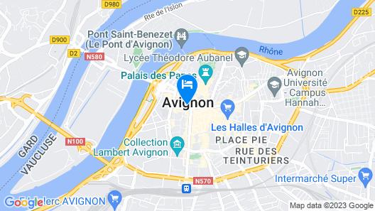Hotel de I'Horloge Map