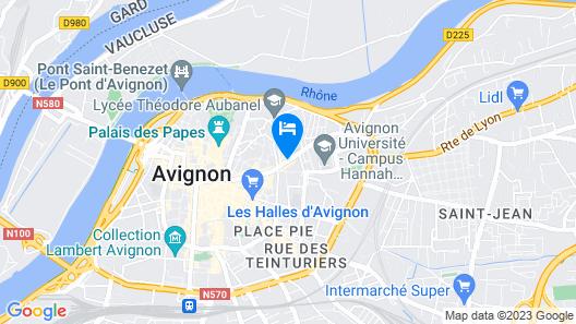 Aux Augustins Map