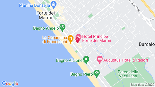 Principe Forte Dei Marmi Map