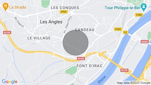 'le petit nice' mazet avec piscine vue sur Avignon Map