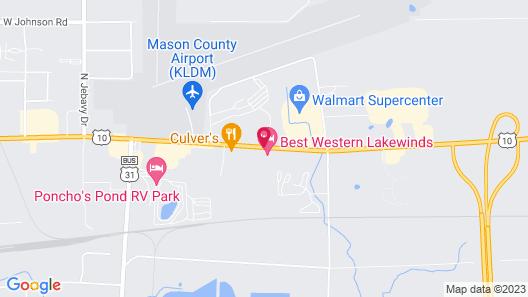Best Western Lakewinds Map