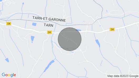 Montdurausse Villa, Sleeps 8 with Pool Map