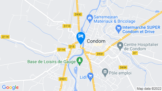 Le Continental Hotel Map
