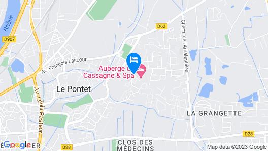 Auberge de Cassagne & Spa Map