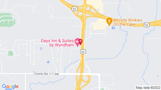 Days Inn & Suites by Wyndham Rochester Mayo Clinic South Map