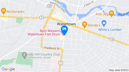 Best Western Watertown Fort Drum Map