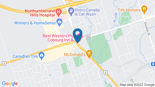 Best Western Plus Cobourg Inn & Convention Centre Map