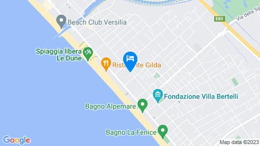 iH Hotels Forte dei Marmi Logos Map
