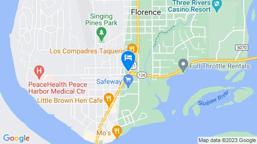 Villa West Motel Map