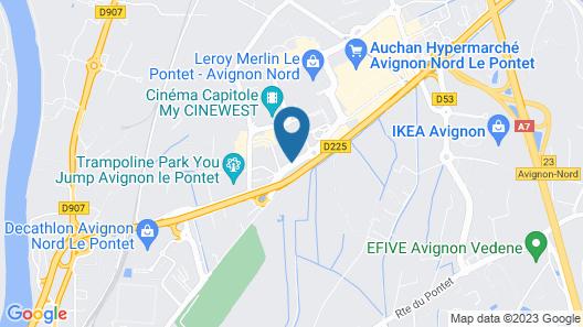 ibis budget Avignon Nord Le Pontet Map