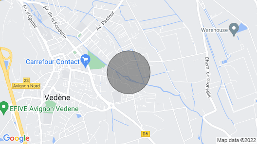 Guest House With Terrace and Private Pool Near Avignon- Wifi Map