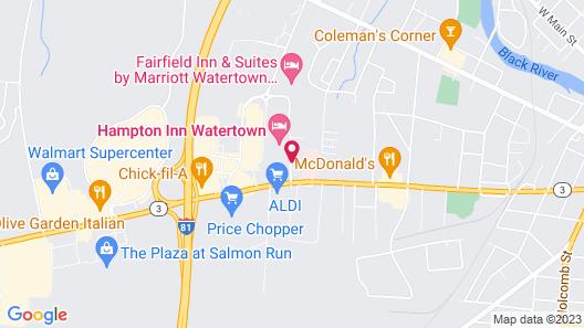 Comfort Inn & Suites Watertown - 1000 Islands Map
