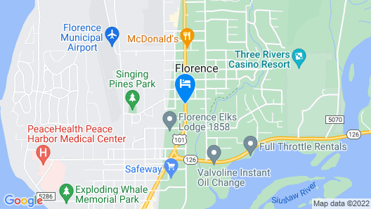 Silver Sands Motel Map