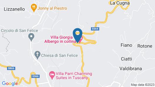 Villa Giorgia Albergo In Collin Map
