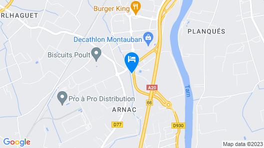 Brit Hotel Confort Montauban Map