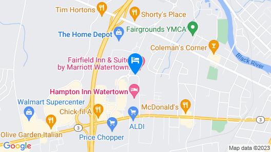 Fairfield Inn & Suites Watertown Thousand Islands Map