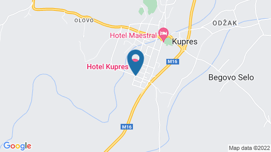 Hotel Kupres Map