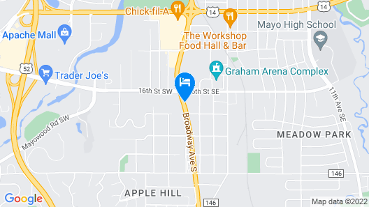Candlewood Suites Rochester Mayo Clinic Area, an IHG Hotel Map