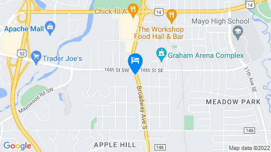 Ramada by Wyndham Rochester Mayo Clinic Area Map