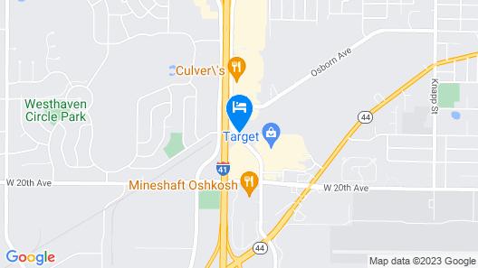 Fairfield Inn & Suites Oshkosh Map