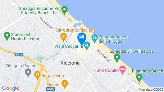 Hotel Cristallo Riccione Map