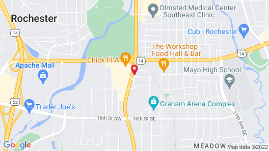 Baymont by Wyndham Rochester Mayo Clinic Area Map