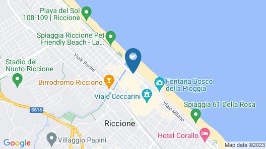 Hotel Lungomare Map
