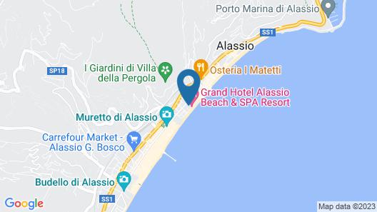 Grand Hotel Alassio Resort & Spa Map