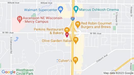Motel 6 Oshkosh, WI Map