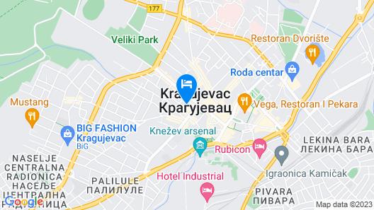 Central Lux Hotel Kragujevac Map