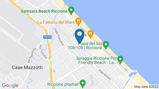 Hotel Quisisana Riccione Map