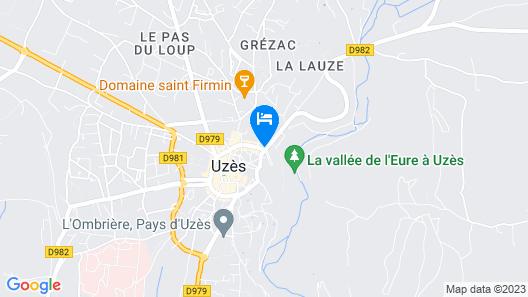 La Maison Rouge D'uzes Map