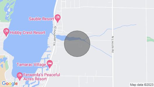 Ludington Cottage w/ Deck, Yard & Fire Pit! Map