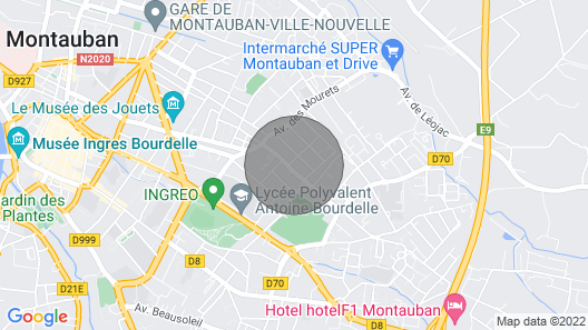 Charming T2 Calm and Secure in Montauban Map