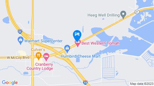 Super 8 by Wyndham Tomah Wisconsin Map