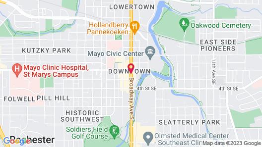 Hilton Garden Inn Rochester Downtown, MN Map