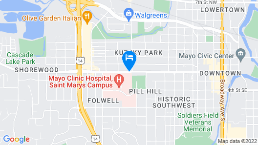 SpringHill Suites by Marriott Rochester-Mayo Clinic/St Marys Map