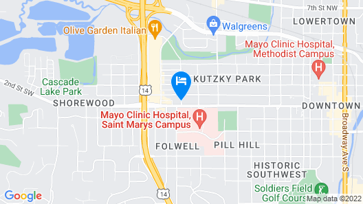Courtyard by Marriott Rochester Mayo Clinic Area/Saint Marys Map