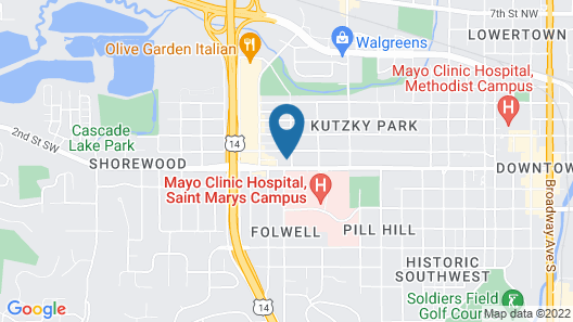 Homewood Suites by Hilton Rochester Mayo Clinic Area / Saint Marys Map