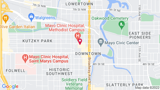 The Towers At Kahler Grand Hotel Map