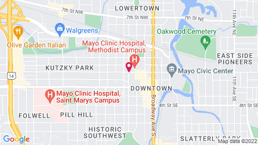 Kahler Inn and Suites - Mayo Clinic Area Map