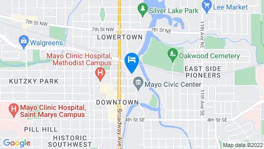 KRB Apartments Civic Center Map