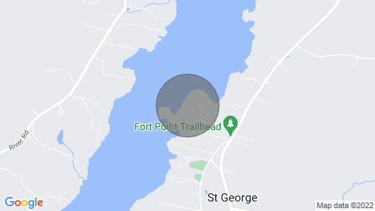 On the St. George Peninsula With Private Waterfront on a Saltwater Cove Map