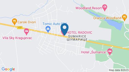 Garni Hotel Radovic Map