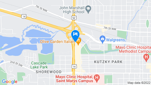 Fairfield Inn & Suites Rochester Mayo Clinic Area/St. Marys Map